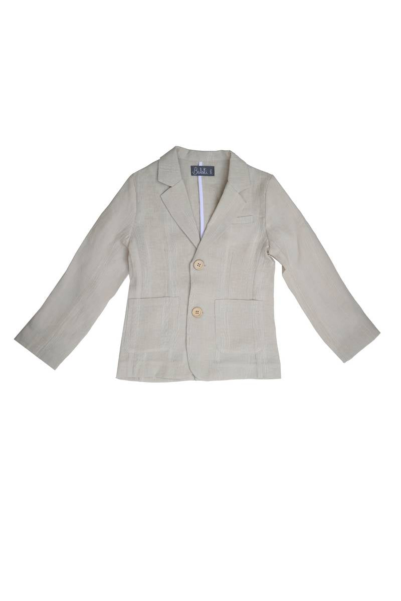 Noma Beige CLASSIC JACKET WITH POCKETS