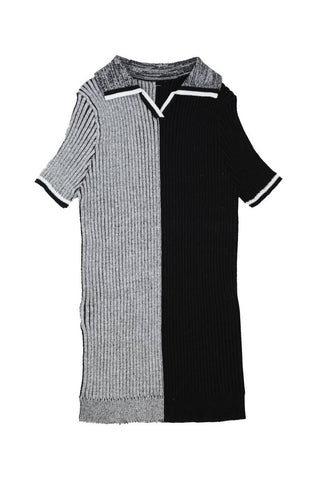 Noma Black HALF AND HALF COLLARED KNIT