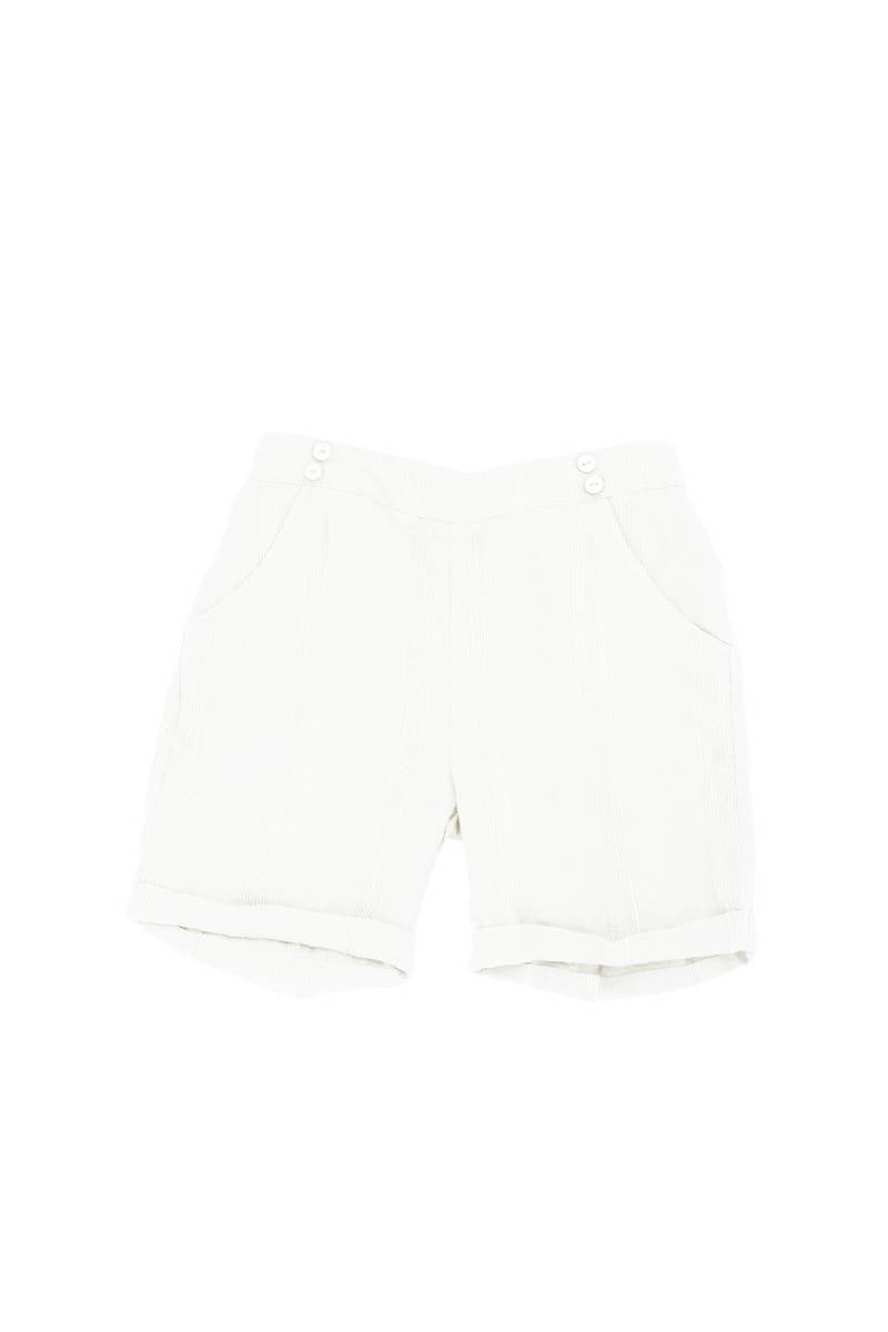 Noma Ivory Striped SHORTY BERMUDAS WITH BUTTONS OVER POCKET DETAIL