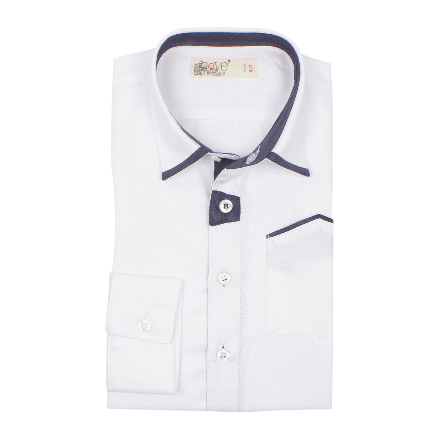 Nove Boys' Grey Accenting Shirt