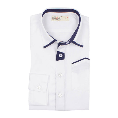 Nove Boys' Navy Accenting Shirt