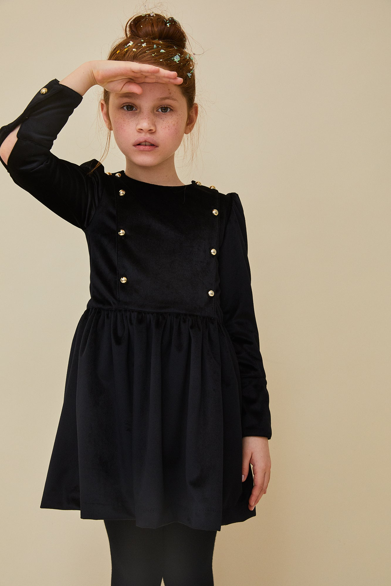 Nueces Black Velvet Alya Dress