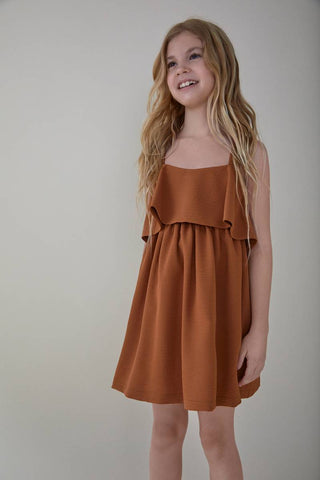 Nueces Mustard Fresno Bow Dress