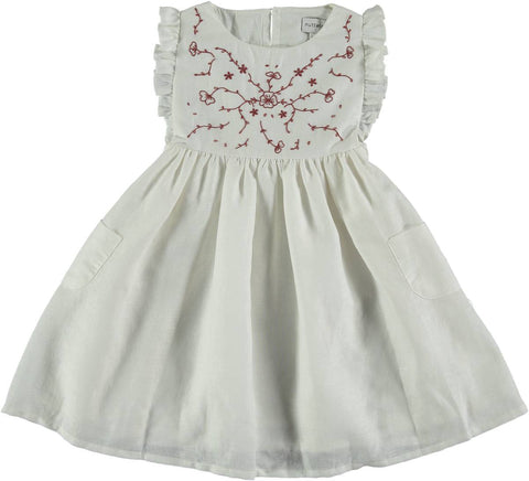 Nuttwig White Embroidery Dress