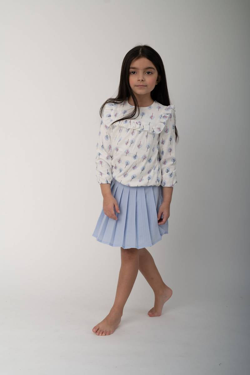 One Child Blue Malburg Skirt