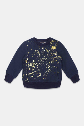 One Child Navy Boys Randall Sweater
