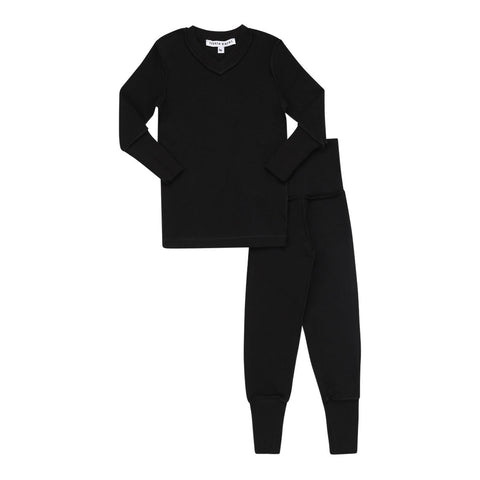 Parni Black V-Neck Pj's