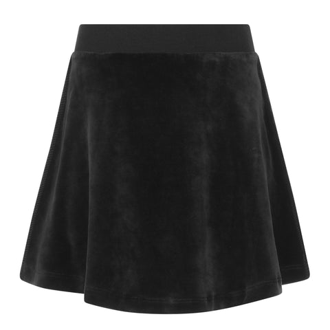 Parni Black Velour A-Line Skirt