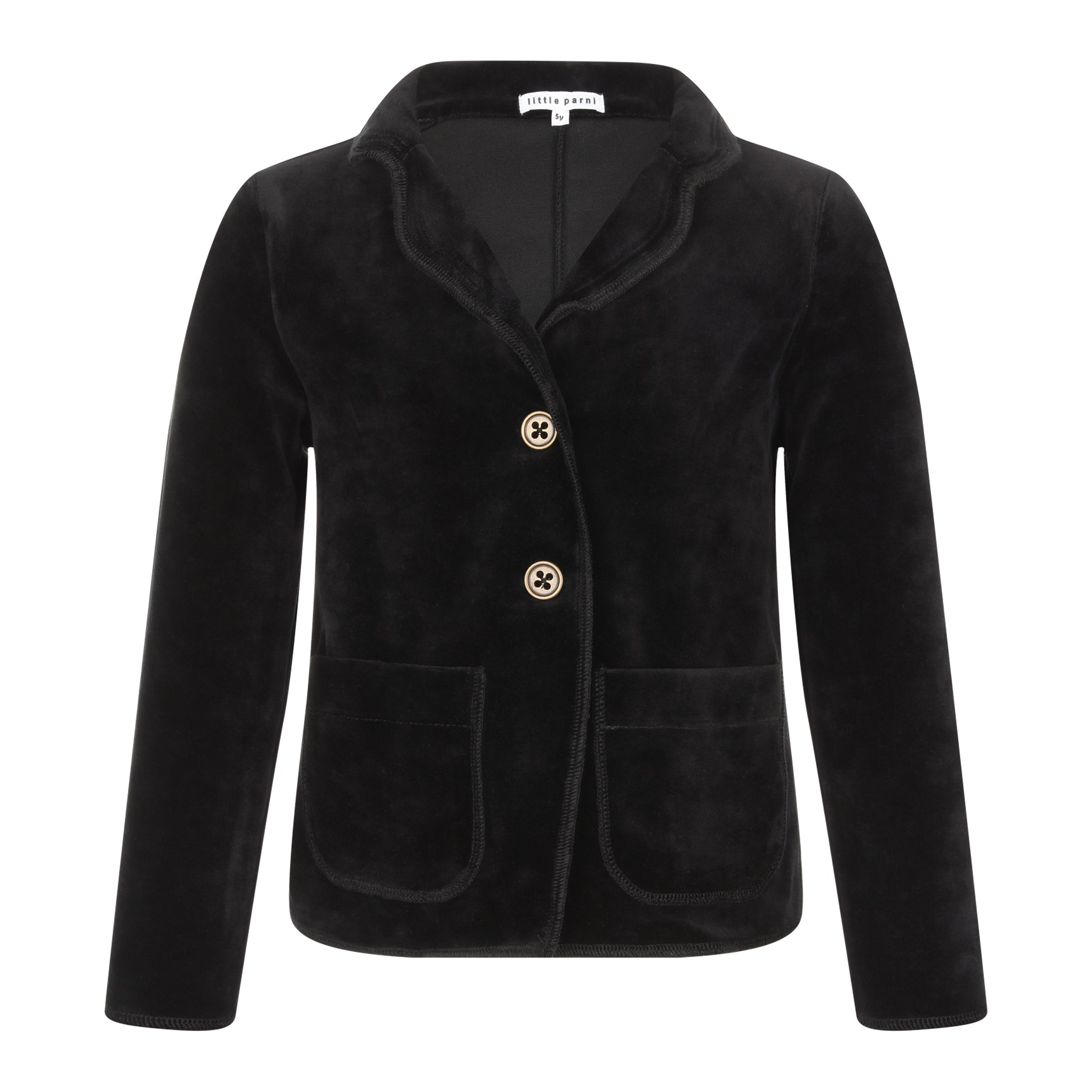 Parni Black Velour Blazer