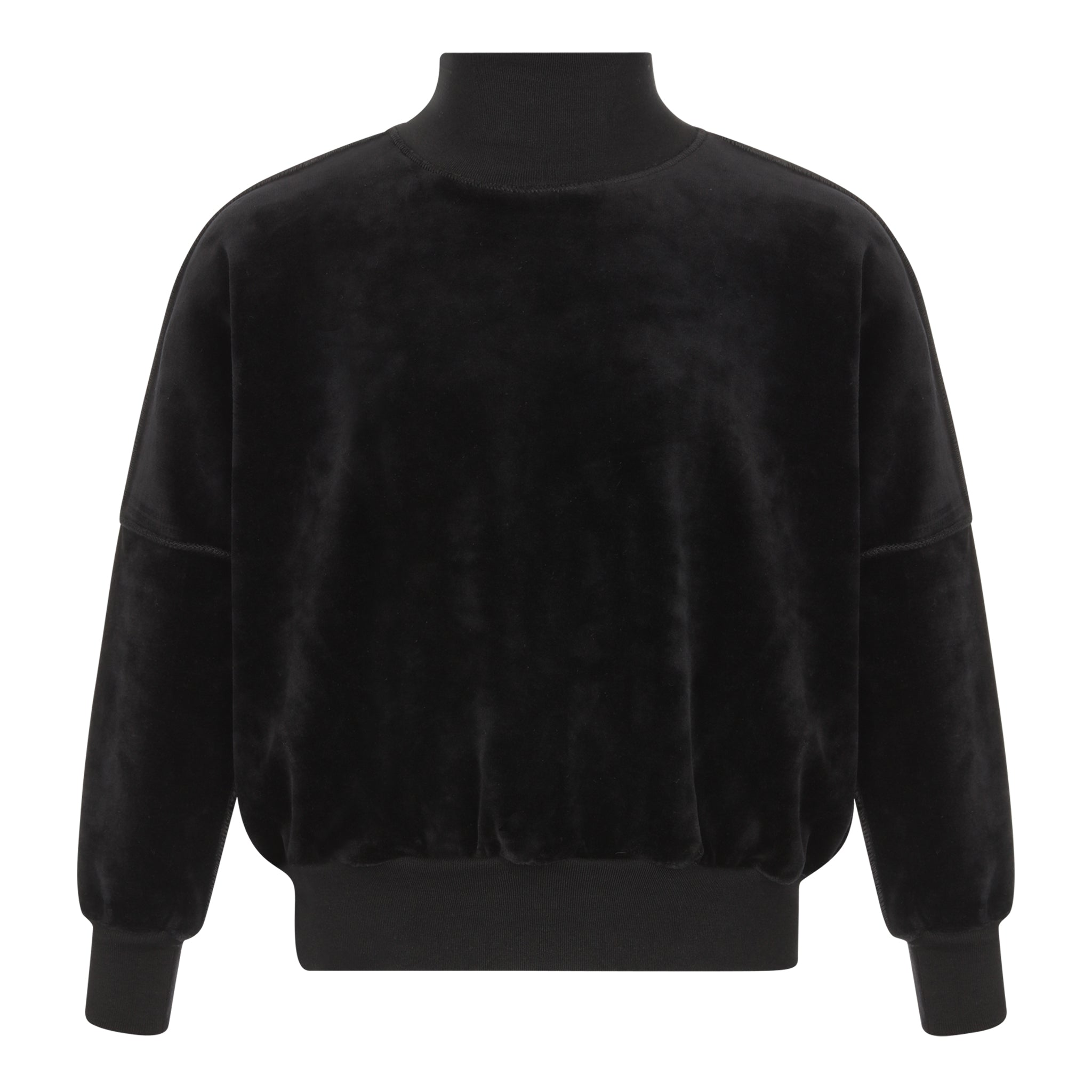 Parni Black Velour Dolman Turtleneck