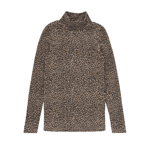Parni Leopard Turtleneck