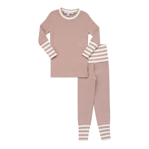 Parni Rose Striped Cuff Pj's