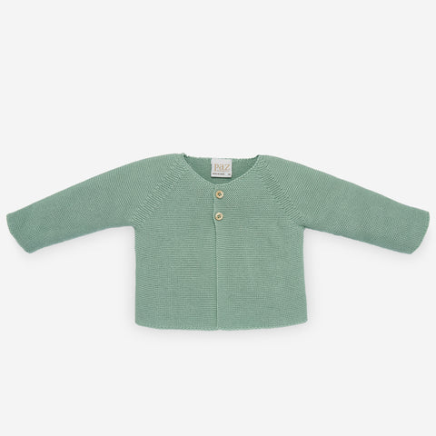 Paz Mint Green Esencial Cardigan