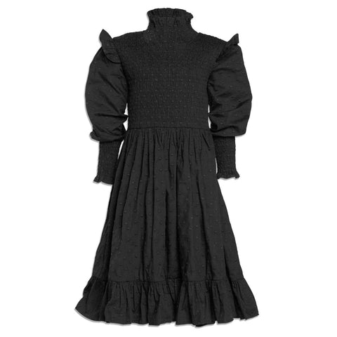 Petit Amalie Black Shirred Dress