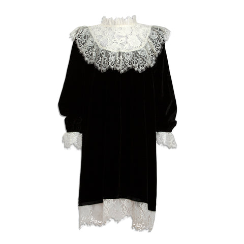 Petit Amalie Black Velvet Dress