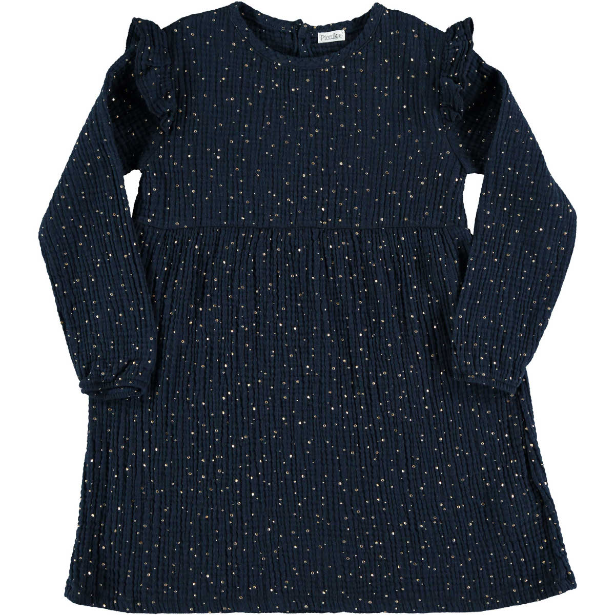 Picnik Navy Dotted Dress