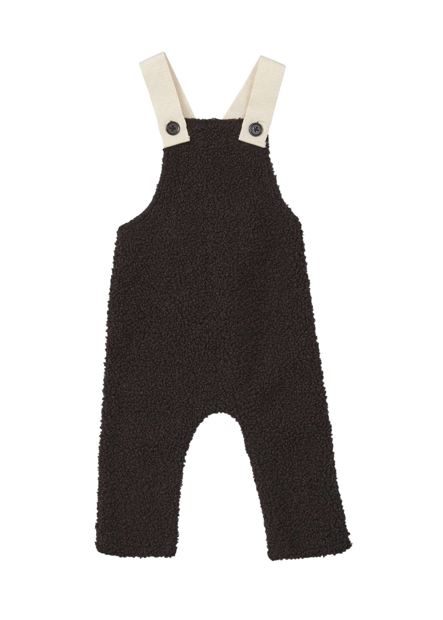 Pompomme Black Sherpa Overall