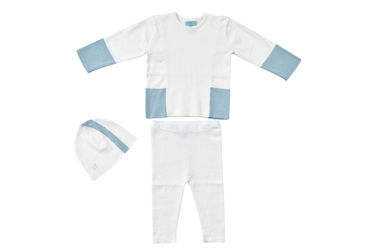 Pompomme Blue Colorblock Set