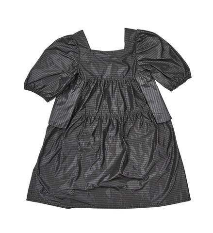 Pompomme Grey Taffeta Dress