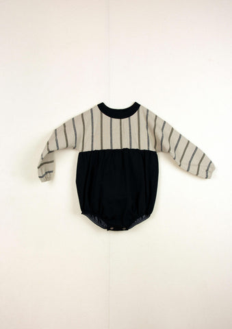 Popelin Black Stripe Romper