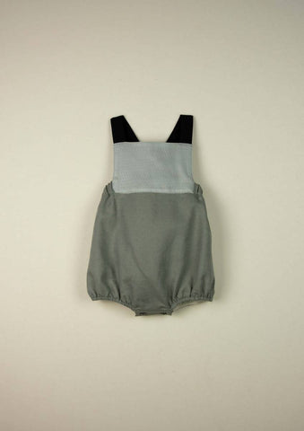 Popelin Green Reversible Overalls