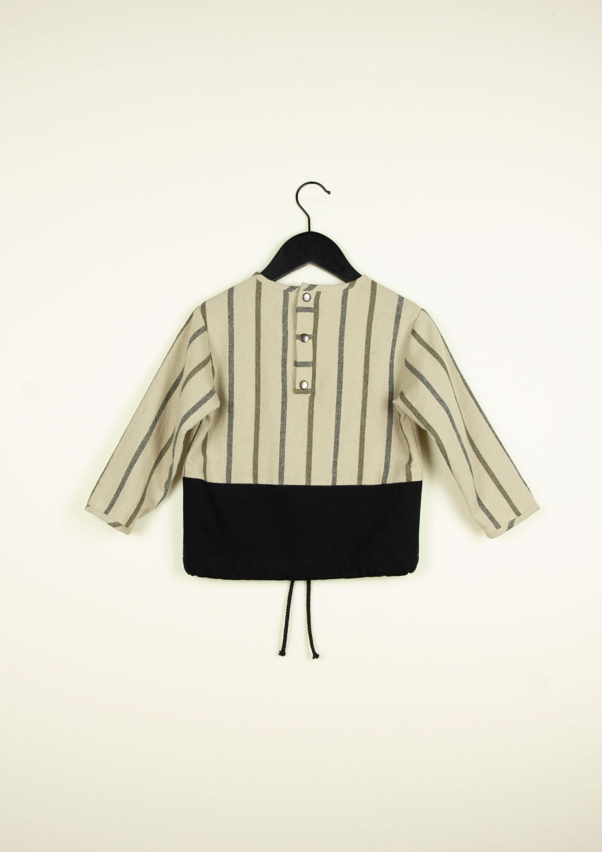 Popelin Two-Tone Black Shirt