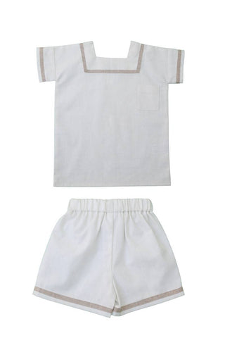 Resort Ivory Woven Sailor Set