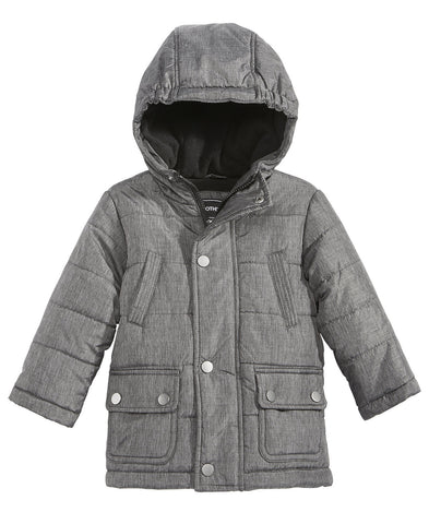 Rothschild Boys' Hooded Puffer Melange Coat