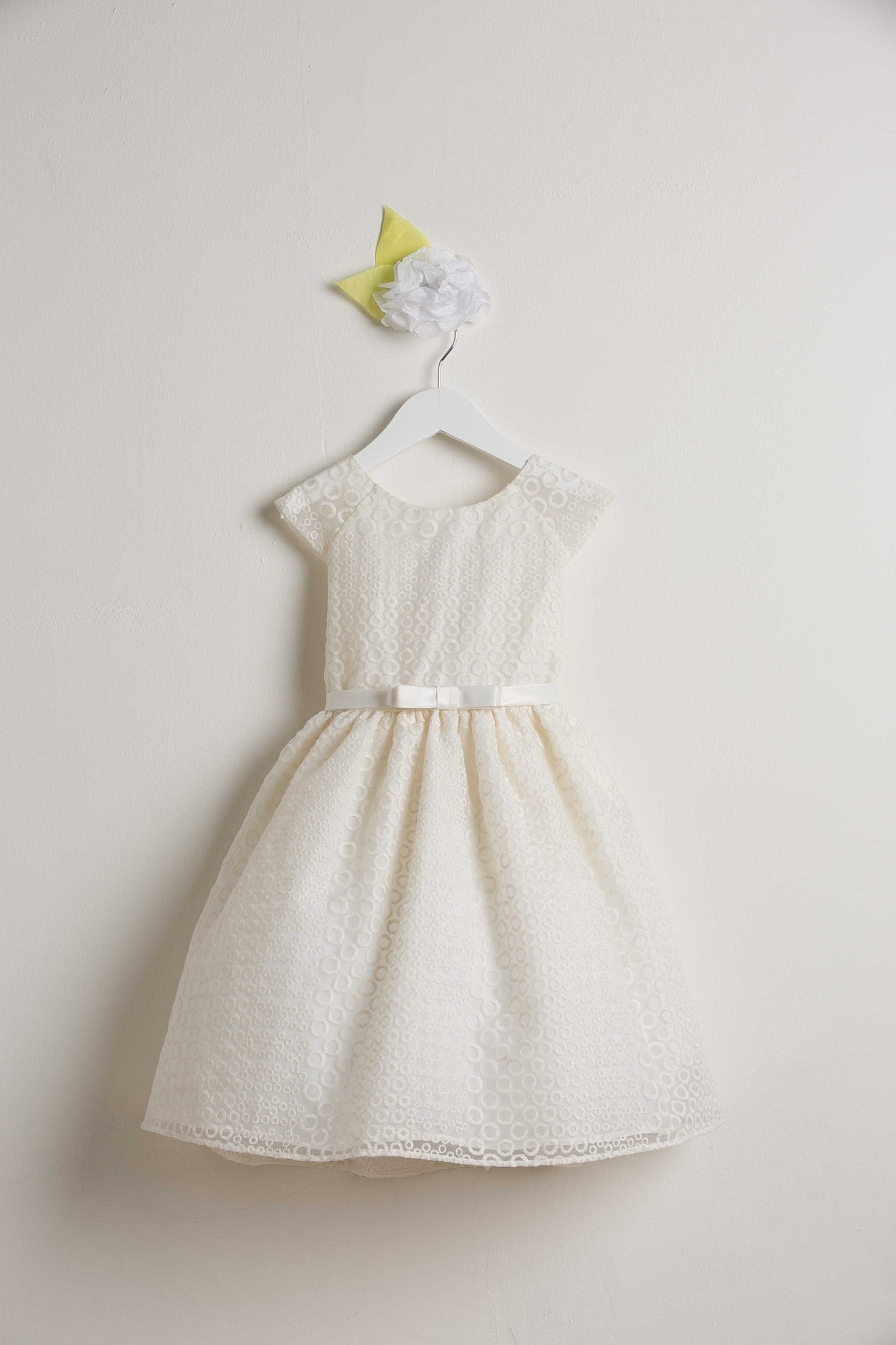 Sweet Kids Circle Embroidered Organza Dress - SK555 - Young Timers Boutique  - 3
