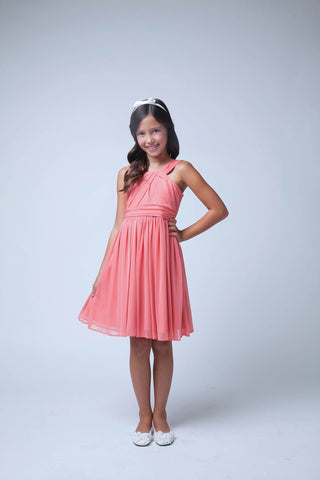 Sweet Kids Coral Crossover Matte Jersey - SK565 - Young Timers Boutique