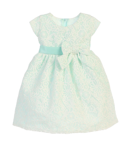 SWEET KIDS BABY GIRLS BOUQUET EMBROIDERED ORGANZA DRESS - SKB626 - Young Timers Boutique
