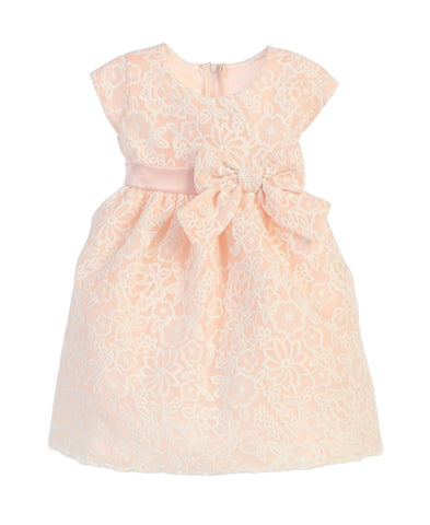 SWEET KIDS BABY GIRLS BOUQUET EMBROIDERED ORGANZA DRESS - SKB626