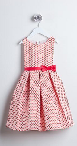 Sweet Kids Tomato Petite Polka Dot Jacquard Flower Girl Dress - SK520 - Young Timers Boutique