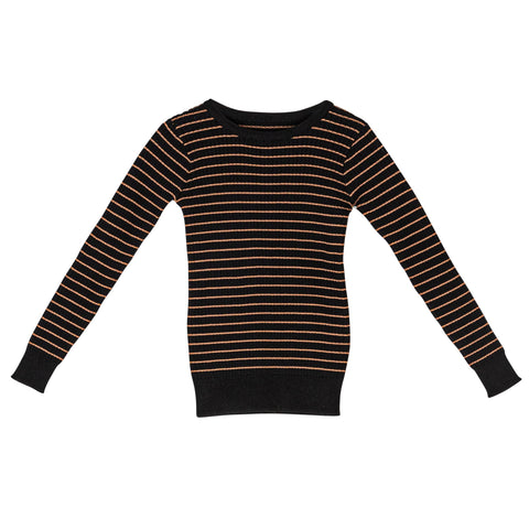 Sweet Threads Black Striped Sweater