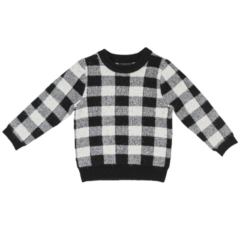 Sweet Threads Black Checked Sweater