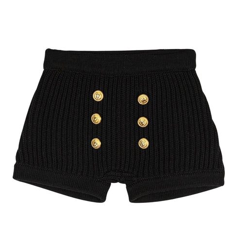 Sweet Threads Black Thick Knit Shorts