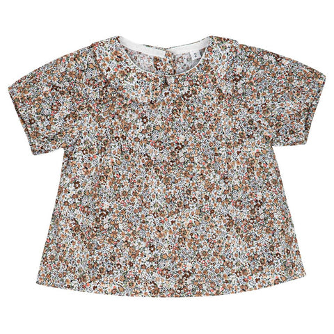 Sweet Threads Brown Floral Eva Shirt