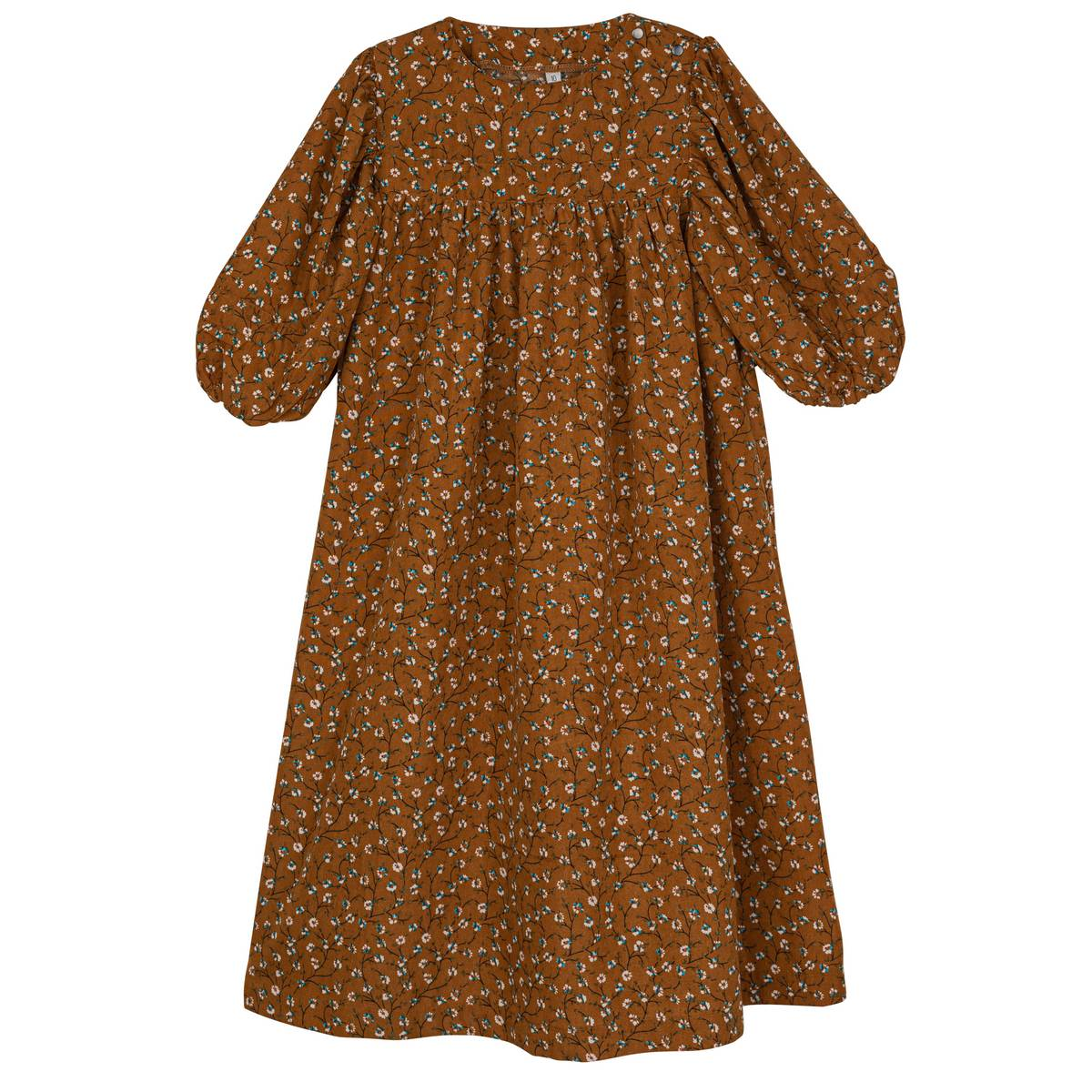 Sweet Threads Brown Floral Mandy Dress