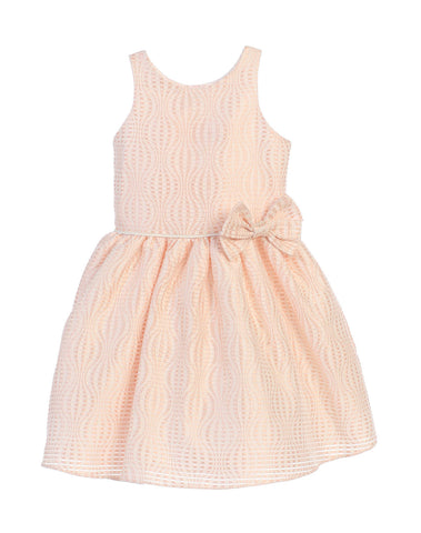 Sweet Kids Hot Air Balloon Striped Jacquard Dress - Blush, SK686