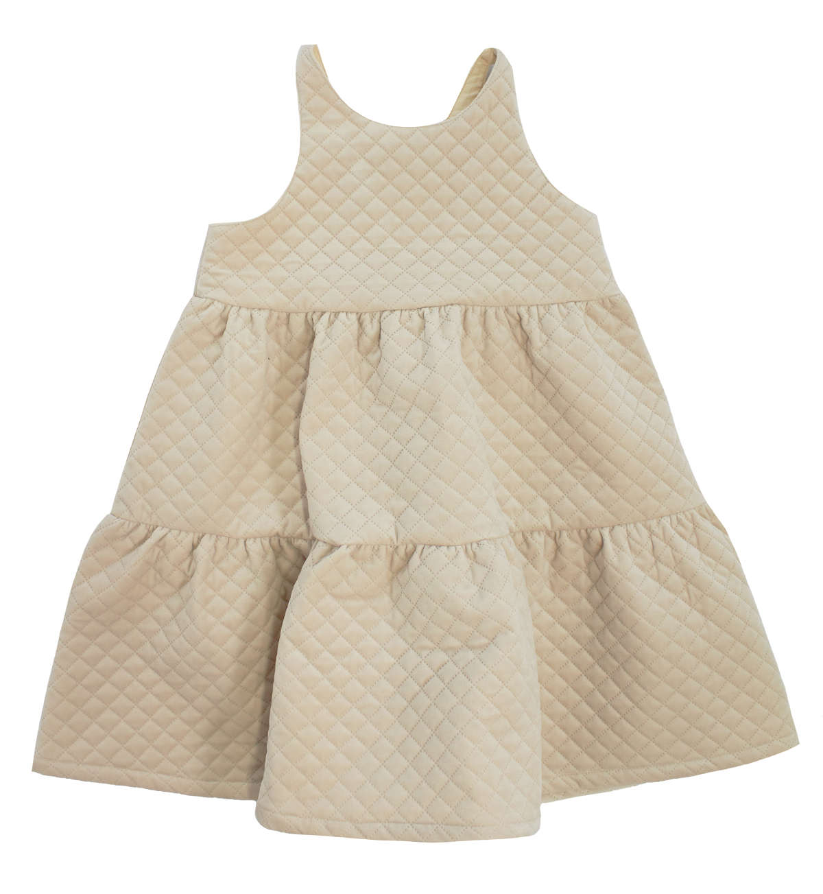 Kipp Stone Tiered Quilted Jumper