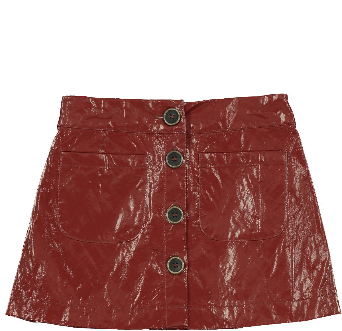Tarantela Rust Button Skirt