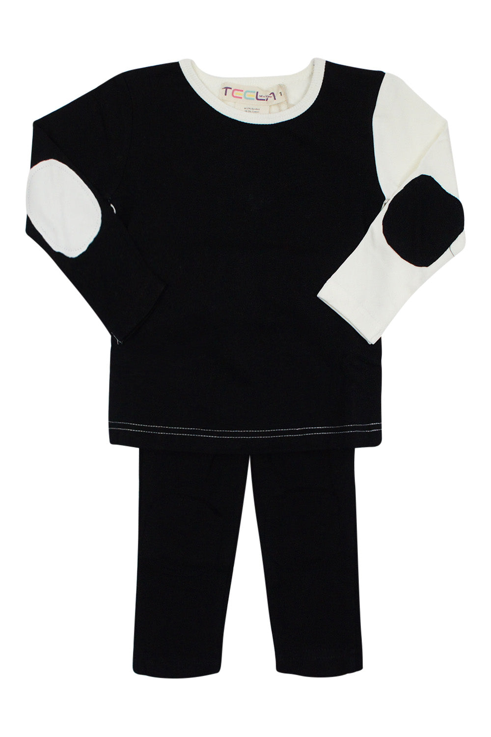 Teela Black Color Block Loungewear Set