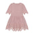 Teela Blush Eyelet Cutout Dress