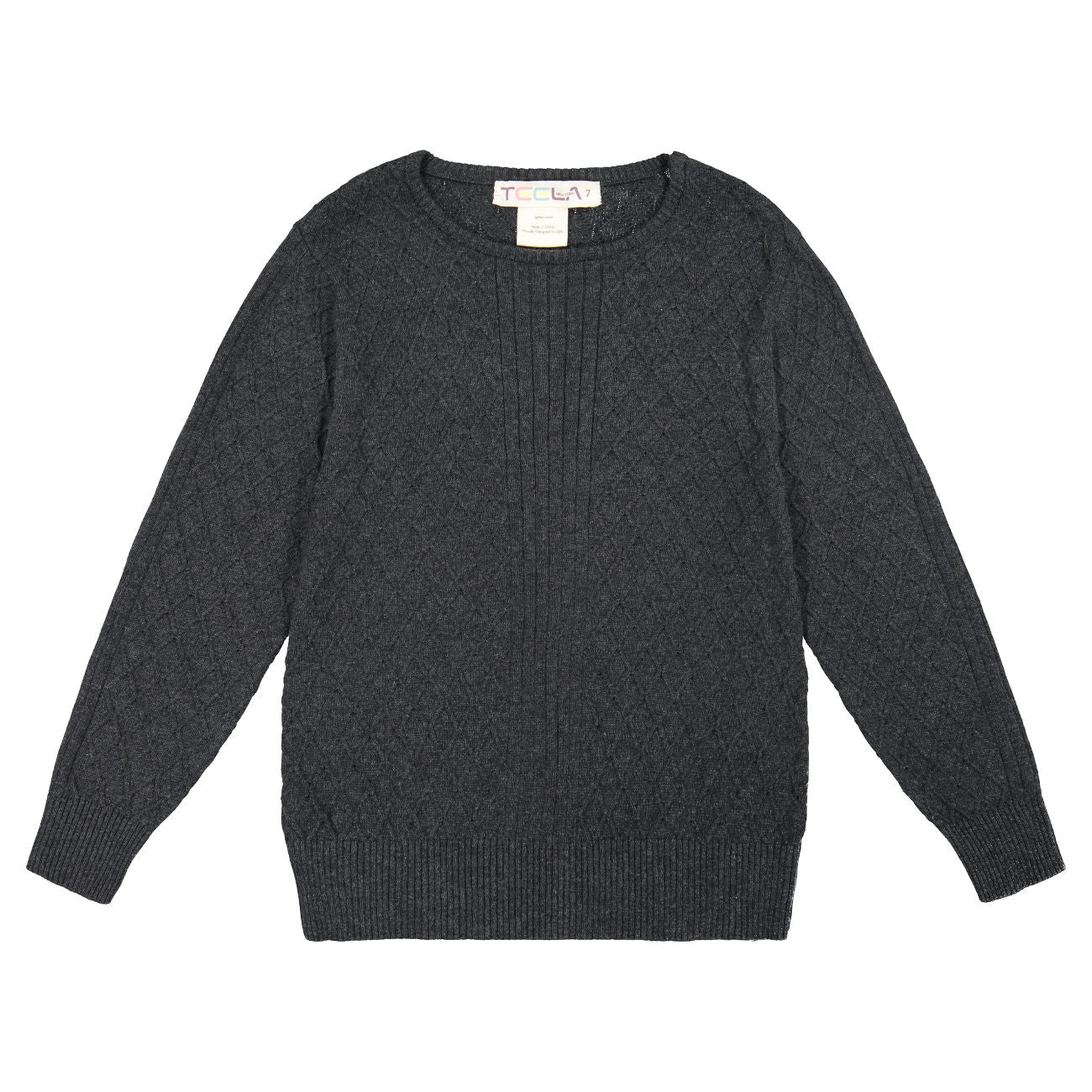 Teela Charcoal Cable Knit Top