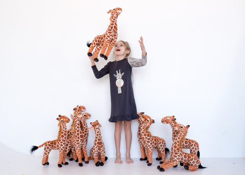 Teela Charcoal Giraffe Nightgown