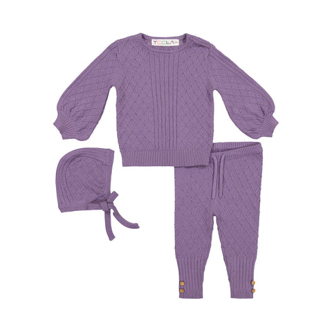 Teela Orchid Cable Knit Set
