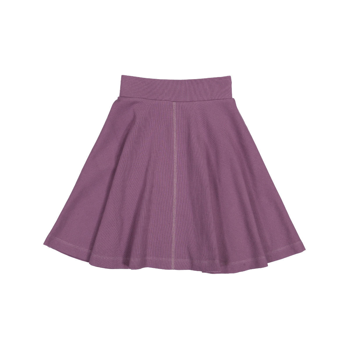 Teela Orchid Ribbed Circle Skirt