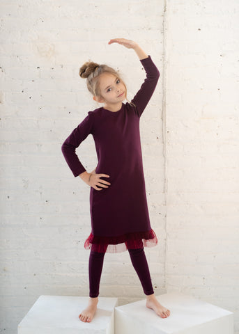 Teela Plum Ribbed Nightgown