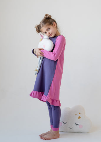 Teela Purple Color block Nightgown
