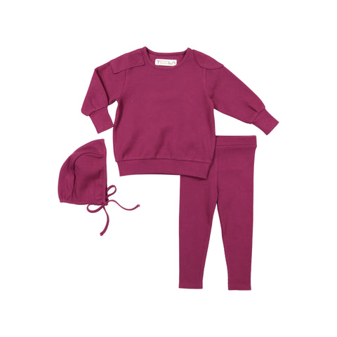 Teela Rouge Ribbed Baby Set